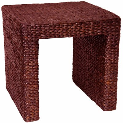 Kianna End Table Color: Red Brown
