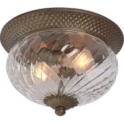 Terry 2-Light Flush Mount Finish: Pearl Bronze