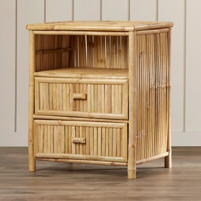Porter Bamboo 2 Drawer Nightstand