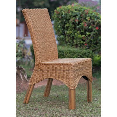Staples Rattan Dining Chair with Rattan Pole Legs