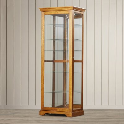 Logan Ryleigh Curio Cabinet Finish: Golden Oak