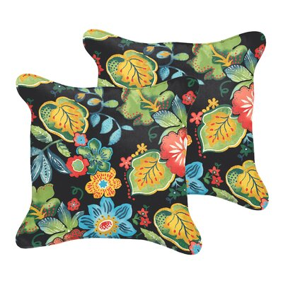 Barbuda Flange Floral Indoor/Outdoor Throw Pillow Size: 20 x 20