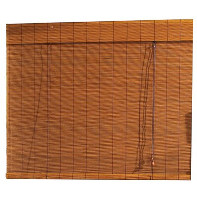 Bamboo Roller Blind (Set of 6) Size: 96 H x72 W x 3 D