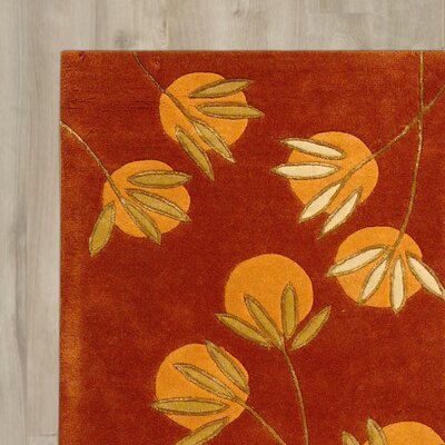Felton Hand-Tufted Rust Area Rug Rug Size: Rectangle 83 x 11