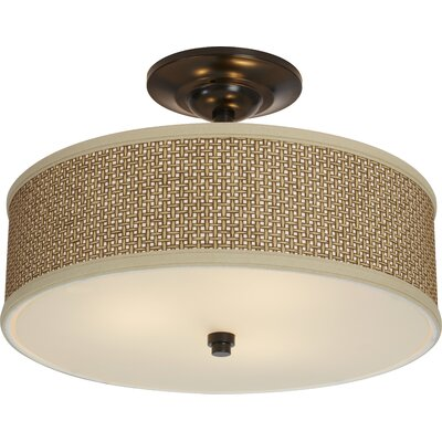 Crane 3-Light Semi Flush Mount