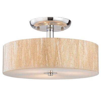 Jose 3-Light Semi Flush Mount Bulb Type: 9.5W LED