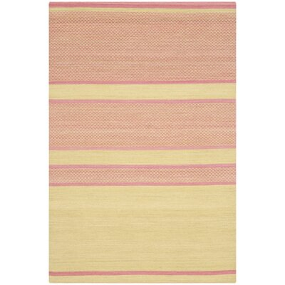 Naupaka Hand-Woven Lime/Pink Area Rug Rug Size: Rectangle 4 x 6