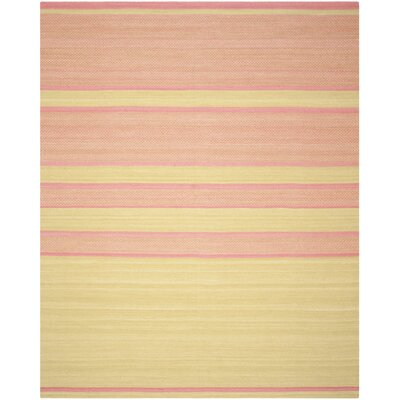 Naupaka Hand-Woven Lime/Pink Area Rug Rug Size: Rectangle 8 x 10