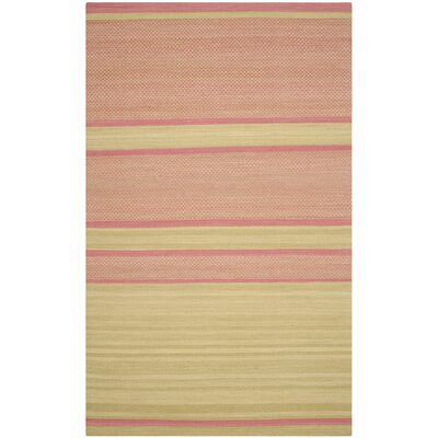 Naupaka Hand-Woven Lime/Pink Area Rug Rug Size: Rectangle 5 x 8