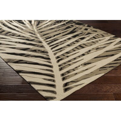 Fort Charcoal/Ivory Indoor/Outdoor Area Rug Rug Size: 4 x 6