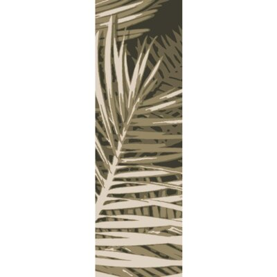 Fort Hand-Tufted Olive Forest/Beige Indoor/Outdoor Area Rug Rug Size: Runner 26 x 8