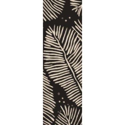 Acosta Hand-Tufted Charcoal/Ivory Indoor/Outdoor Area Rug Rug Size: Runner 26 x 8