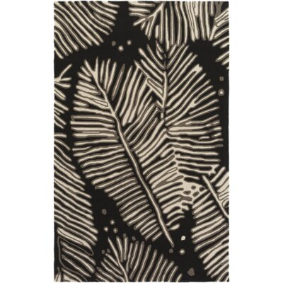 Acosta Hand-Tufted Charcoal/Ivory Indoor/Outdoor Area Rug Rug Size: 4 x 6