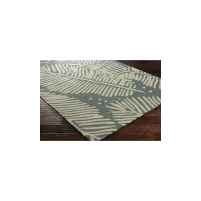 Acosta Hand-Tufted Slate/Ivory Indoor/Outdoor Area Rug Rug Size: 2 x 3
