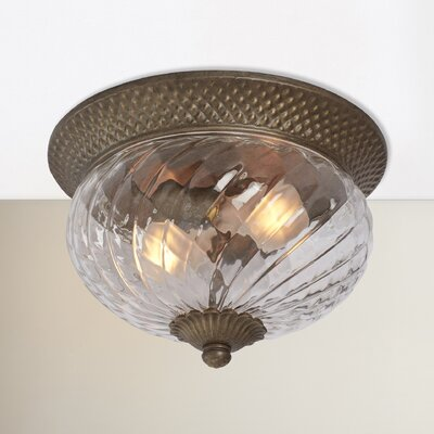 Terry 2-Light Flush Mount Color: Pearl Bronze