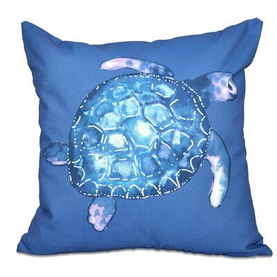 Granata Sea Turtle Animal Print Throw Pillow Color: Blue, Size: 20 H x 20 W