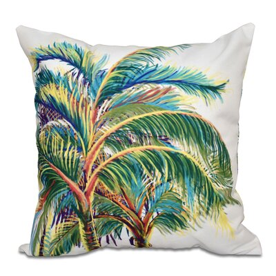 Granata Vacation Floral Throw Pillow Size: 18 H x 18 W, Color: White