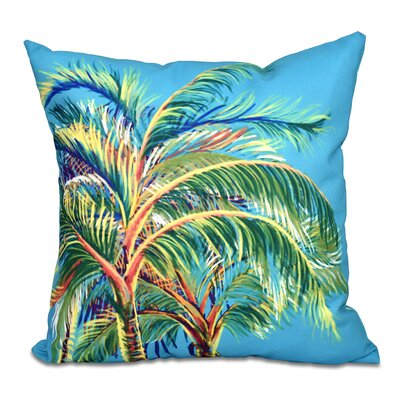 Granata Vacation Floral Throw Pillow Color: Turquoise, Size: 18 H x 18 W