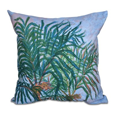 Granata Palms Floral Print Throw Pillow Size: 16 H x 16 W, Color: Dark Blue