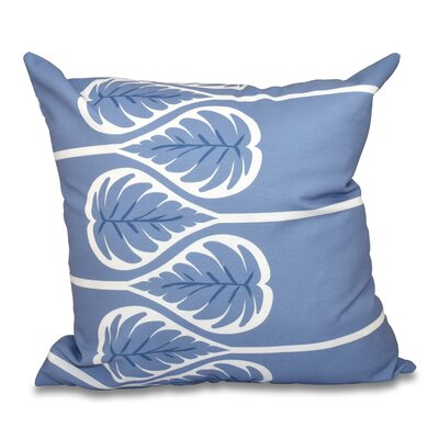 Hilde 1 Floral Print Throw Pillow Color: Blue, Size: 18 H x 18 W