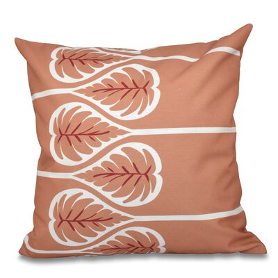 Hilde 1 Floral Print Throw Pillow Size: 26 H x 26 W, Color: Coral