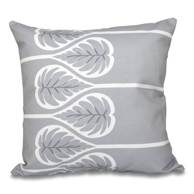 Hilde 1 Floral Print Throw Pillow Size: 16 H x 16 W, Color: Gray