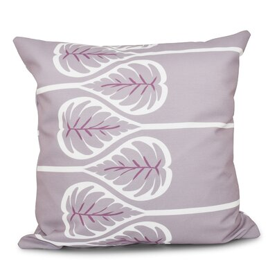Hilde 1 Floral Print Throw Pillow Size: 20 H x 20 W, Color: Lavender
