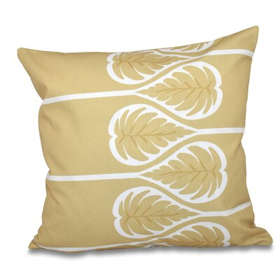Harriet 1 Floral Print Throw Pillow Size: 18 H x 18 W, Color: Gold
