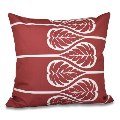 Hilde 2 Print Throw Pillow Size: 26 H x 26 W, Color: Coral