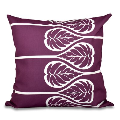Hilde 2 Print Throw Pillow Size: 16 H x 16 W, Color: Purple