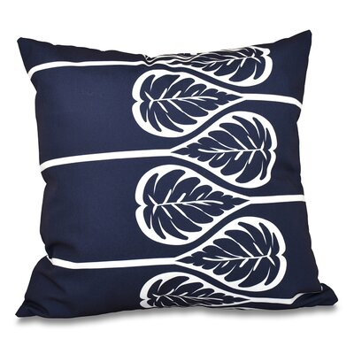 Hilde 2 Print Throw Pillow Color: Navy Blue, Size: 18 H x 18 W