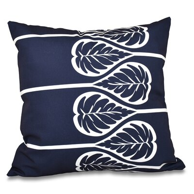 Hilde Outdoor Throw Pillow Size: 18 H x 18 W, Color: Navy Blue