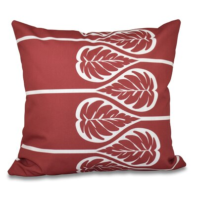 Harriet 2 Outdoor Throw Pillow Size: 18 H x 18 W, Color: Coral