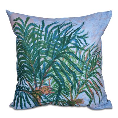 Jacque Palms Floral Print Outdoor Throw Pillow Color: Navy Blue, Size: 20 H x 20 W