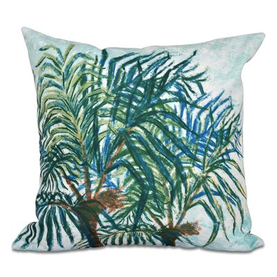 Jacque Palms Floral Print Outdoor Throw Pillow Size: 18 H x 18 W, Color: Blue