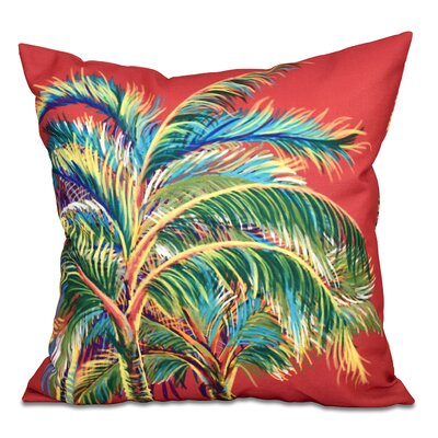 Pinkfringe Outdoor Throw Pillow Size: 20 H x 20 W, Color: Coral