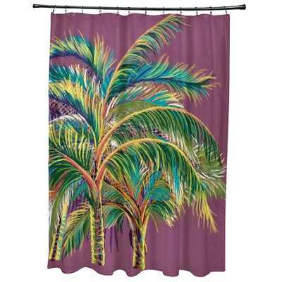 Geranium Vacation Floral Shower Curtain Color: Purple