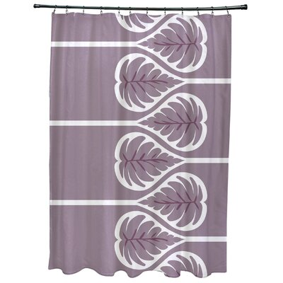 Sigsbee Fern 1 Floral Print Shower Curtain Color: Lavender