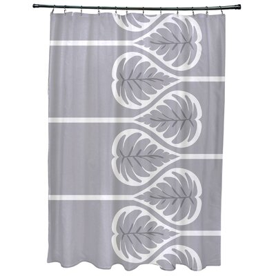 Sigsbee Fern 1 Floral Print Shower Curtain Color: Gray