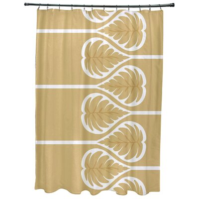 Sigsbee Fern 1 Floral Print Shower Curtain Color: Gold
