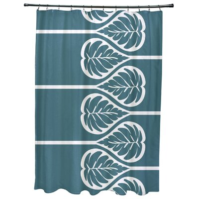 Sigsbee Fern 2 Floral Print Shower Curtain Color: Teal