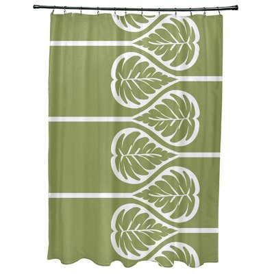 Sigsbee Fern 2 Floral Print Shower Curtain Color: Green
