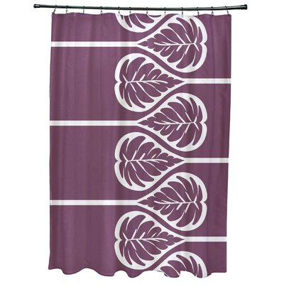 Sigsbee Fern 2 Floral Print Shower Curtain Color: Purple