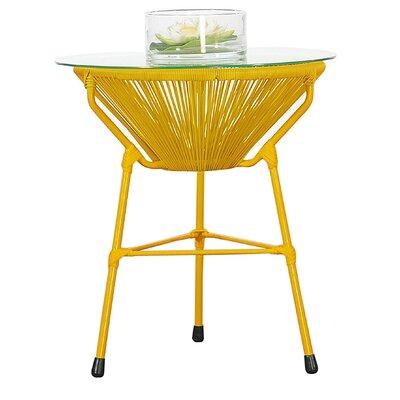 Carolyne Side Table Base Finish: Yellow