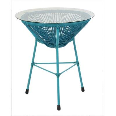 Carolyne Side Table Base Finish: Blue