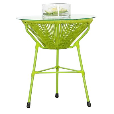 Carolyne Side Table Base Finish: Green
