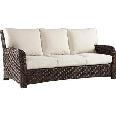 Chorio Sofa with Cushions Fabric: Canvas, Frame Finish: Espresso