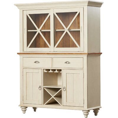Solid Pine China Cabinet Hutch
