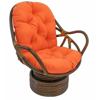 Jimena Papasan Chair Upholstery: Tangerine Dream