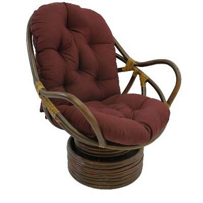 Jimena Papasan Chair Upholstery: Burgundy